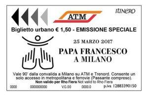 bigliettoatmpapa-300x194 25 marzo arriva papa Francesco. Come muoversi a Milano Cronaca Milano Prima Pagina