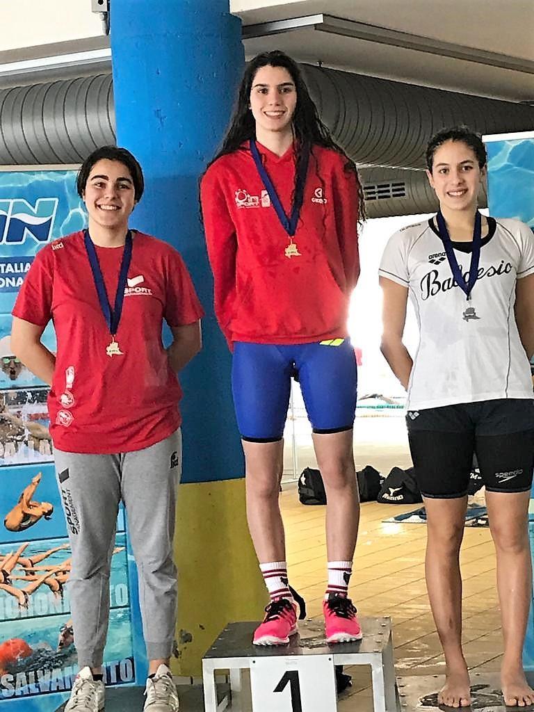 Gaia-Tomaselli-argento-400Misti Campionati regionali di nuoto: medaglie per Monza, Melzo e Desenzano Altri sport Sport