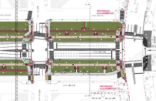 lavori-di-pedonalizzazione Riqualificazione di Corso Sempione: più verde e più spazio per i pedoni Milano