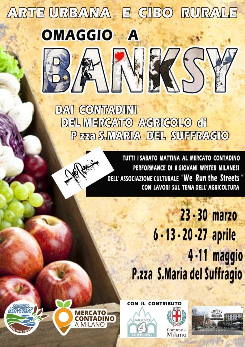 arte-rurale-bansky Cultura pop e cibo lombardo, dal Municipio 4 un omaggio a Bansky e alla Street Art Arte Intrattenimento
